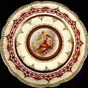 Antique Royal Vienna Plate with Semi-Nude Woman and Beautiful Details