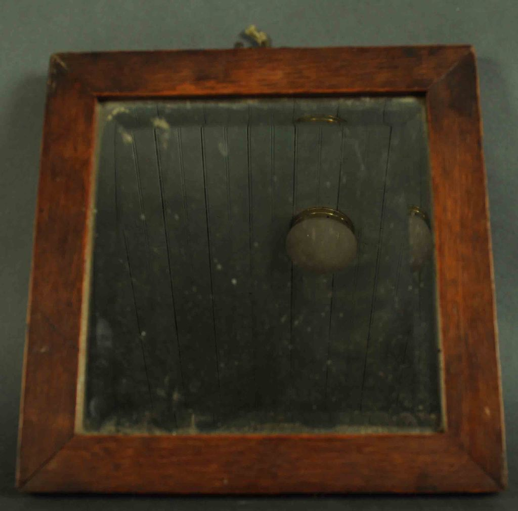 Very old mirror with beveled glass and oak frame sold on for Beveled glass mirror