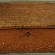 Antique Country Pine Grain Painted Slant Top Desk With Key