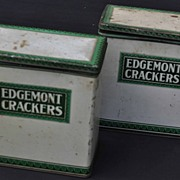 2 Vintage Edgemont Crackers Tins Dayton Ohio