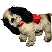 Early nickel button German mohair Steiff Cockie dog