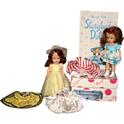 Nancy Ann story book dolls original costumes Little Sister Series box