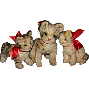 set 3 German Steiff kitty cats Tabby button tag