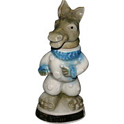 Democratic Donkey regal china pottery 1968 whiskey decanter Jim Beam