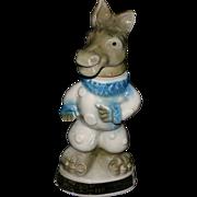 Democratic Donkey regal china pottery 1968 whiskey decanter Jim Beam