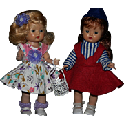 Vintage Nancy Ann Storybook Muffie pair MLW 1950's