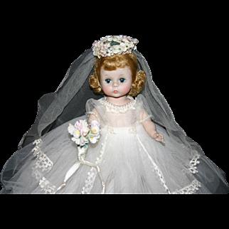 Early 1961 Madame Alexander BKW  Wendy Ann Bride #480 box