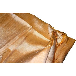 Vintage Thai silk fabric Peach Luster 2 3/4 yards PRISTINE