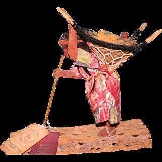 Award winning Vintage carved Papago Indian figure 1963 Domingo Franco Chepa