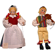 Vintage Swedish Sweden Charlotte Weibull cloth regional dolls Excellent