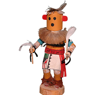 """Vintage 6.25"""" Chili Kachina doll signed by Chavez Indian Native American"""