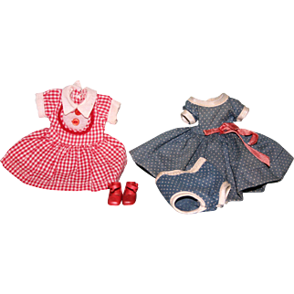 """Vintage Betsy McCall 8"""" doll costumes shoes dress"""