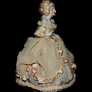 Vintage German half doll bisque porcelain beauty cake topper
