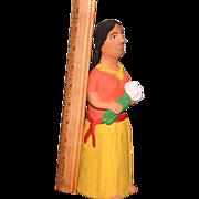 Vintage Guillermina Aguilar Oaxaca Mexican folk art pottery doll