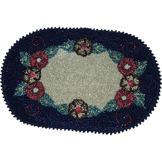 Vintage silk machined doll house rug