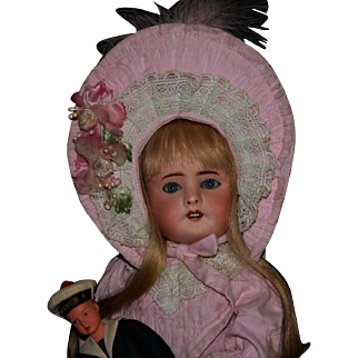 """Antique early French Limoges Lanternier 15"""" bisque doll Nice!"""