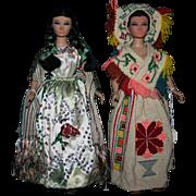 "Vintage 14"" Latin Juarez Mexico Vinyl dolls Excellent"