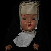Vintage 30's Composition Nun doll all original