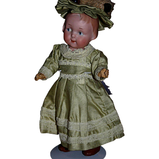 "Antique German A & M Googly 210 Large 9"" doll"