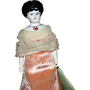 "RARE Antique jeweled 8"" china doll original owner elaborated"