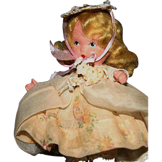 "Vintage Nancy Ann storybook dolls early Judy Ann bisque ""Little Bo Peep"""