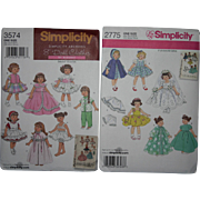 "Archive 8"" doll Patterns Simplicity never been cut mint"