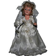 "11"" Composition 1940's Bride doll all original"