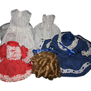 Shirley Temple doll dress sets EXC & wig