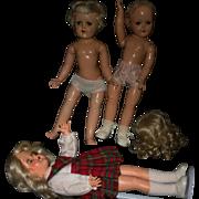 Lot 3 Ideal dolls parts
