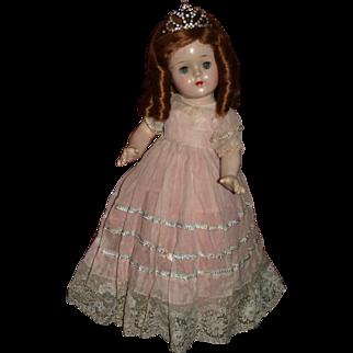 "17"" composition marked Princess Elizabeth Madame Alexander bonus dress"
