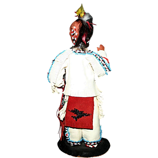 Vintage 1940's artist Edna Ruth Starling Native American Chief Black Hawk doll figure