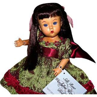 HTF Madame Alexander Silk Rose Wendykin wood doll 40795 MIMB