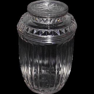 Anchor Hocking vintage tobacco cigar glass humidor jar