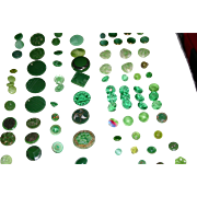 Vintage and Antique jadeite green depression glass buttons