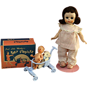 1950's SLW  Madame Alexander kins celluloid toy stroller