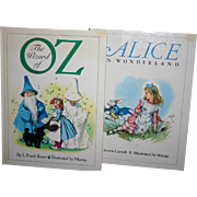 Large Italian version Wizard of Oz  Alice in Wonderland Illustrated by Maraja