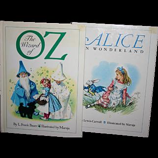 Large Italian version Wizard of Oz  Alice in Wonderland Illustrated by Maraja