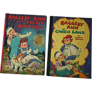 Raggedy Ann and the golden butterfly & Cookie Land by Johnny Gruelle