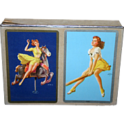 Vintage minty double deck Congress Pin up girl playing cards