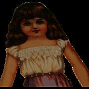 "1988 Shackmann 9"" paper doll & costume set"