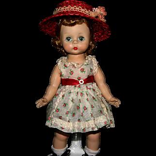 Madame Alexander Kins BKW triple stitch wig adorable great mint dress 1950's