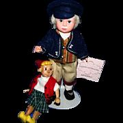 """Madame Alexander 8"""" Geppetto & Pinocchio dolls"""
