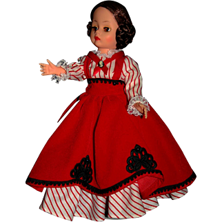 "Madame Alexander Doll #14632 Little Women Legends ""Jo"" Tag"
