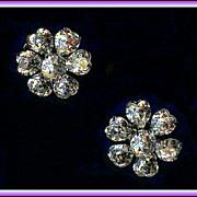 Sparkling Clear Heart Shaped Rhinestone Earrings