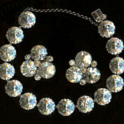 Weiss Voluptuous Crystal Clear Chaton Demi Bracelet and Earrings