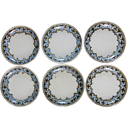 Rare Set English Victorian Transferware Butter Pats - Copeland Denmark 1880 / 1881
