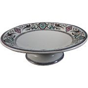 Aesthetic Transferware Footed Bowl - Chelsea - 1875