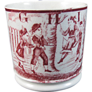 English Staffordshire 19th Century ABC Child's Transferware  Mug