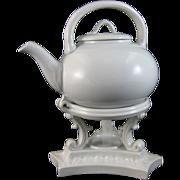 Rare Victorian Staffordshire Tilting Teapot - Copeland 1891