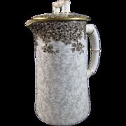 Royal Worcester Brown / Gray Transferware Porcelain Individual Chocolate Pot - 1886